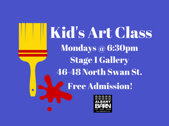 Free Children's Art Classes @ Stage 1 | Albany | New York | United States