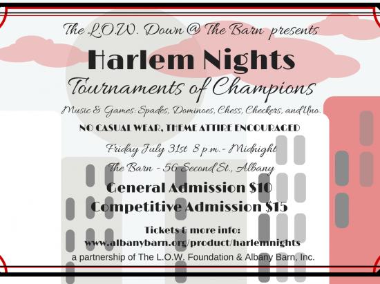 L.O.W. Down @ The Barn: Harlem Nights @ Albany Barn | Albany | New York | United States