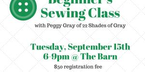 Beginner's Sewing Class